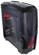 Корпус QUBE QB40X без БП Black Red LED (QB40X_WRNU3)