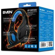 Гарнитура Sven Black/Blue (AP-G851MV)